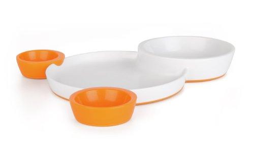 Boon Groovy Feeding Line Orange Assiette pour enfant