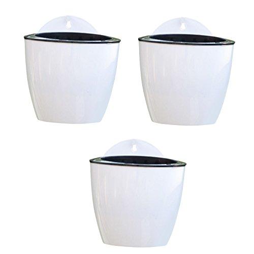Gosear 3 Pack Hängen Pflanzer Töpfe Topf mit Inneren Netz Netto-Pot Becher Korb Baumwoll Seil Haken Set für Saftige Pflanzen und kleine Blumen