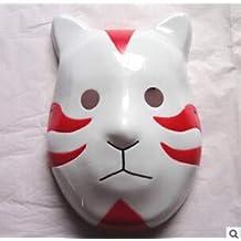 JERKKY Anime Naruto ANBU Máscara de Ninja Fiesta Infantil Disfraz Accesorio Rojo