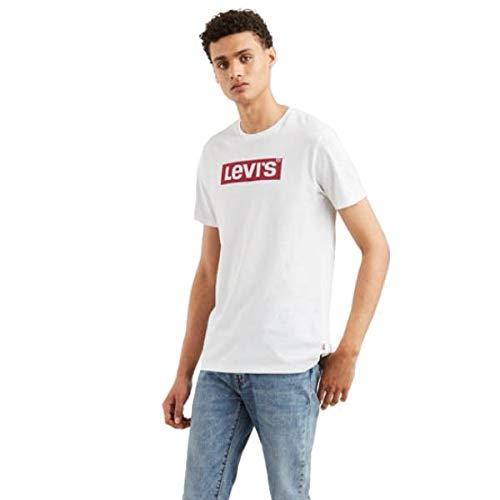 Levi's Herren T-Shirt Graphic Set-In Neck 2, Weiß (Levis Logo White 0424), Small (Herstellergröße: S)