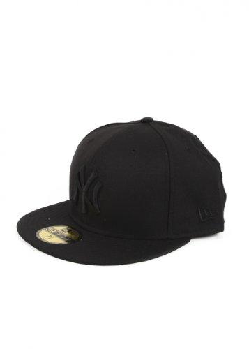 New Era Mlb Basic Ny Yankees 59 Fifty Fitted Black - casquette de Baseball - Homme - Noir (Black) - Taille: 7 1/4