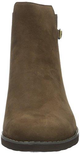 imbottiti non polpaccio Rockport Marrone a Stivali Donna Ebano Chelsea Alanda Marrone metà nqFYg0Sw