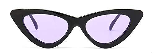 WDXDP Sonnenbrillen Cute Retro Cat Eye Sonnenbrille Frauen Kleine Schwarze Weiße Dreieck Vintage Billige Sonnenbrille Rot Weiblich Uv400Klar Lila