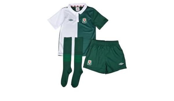 d0b9545fd official childs umbro wales away football kit age 2   3 years full kit mini  minikit infant  Amazon.co.uk  Sports   Outdoors