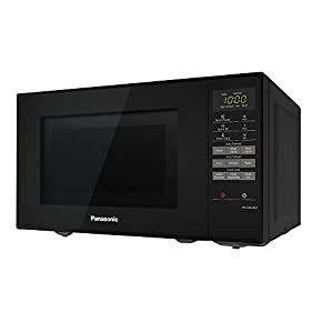 Panasonic NN-E28JBMBPQ Compact Solo Microwave Oven with Turntable, 20 Litres, Black
