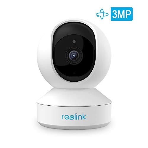 WLAN IP Kamera, Reolink 1296P Überwachungskamera Innen WLAN Handy schwenkbar mit Pan & Tilt, 2,4GHz WiFi, Zweiwege-Audio, IR-Nachtsicht und Bewegungserkennung, E1