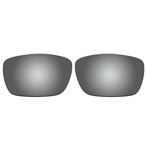 aCompatible Ersatz-Objektive für Oakley Fuel Cell Sonnenbrille OO9096, Titanium - Polarized, Small