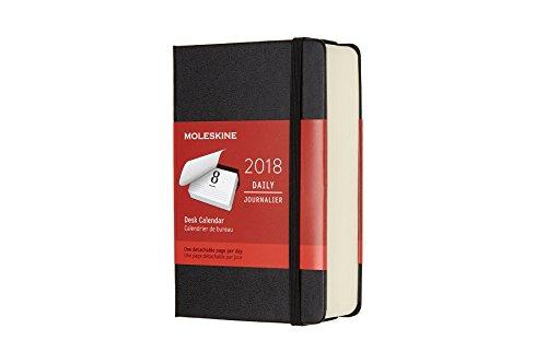 Moleskine Tisch Tageskalender, Taschenkalender, 12 Monate, 2018, Pocket, A6, Hard Cover, Schwarz (Klassischer Kalender)