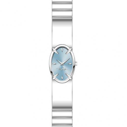 Thierry Mugler 4700602 - Reloj analógico de cuarzo para mujer con correa de acero inoxidable, color plateado