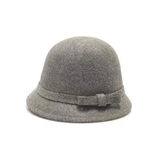 CYSJW-Hut Frau Winter Bow Mode-Hut Mütze Frau Fühlte Hut Herbst Gap Fisherman 'S Hut. (Fühlte Angeln Hüte)