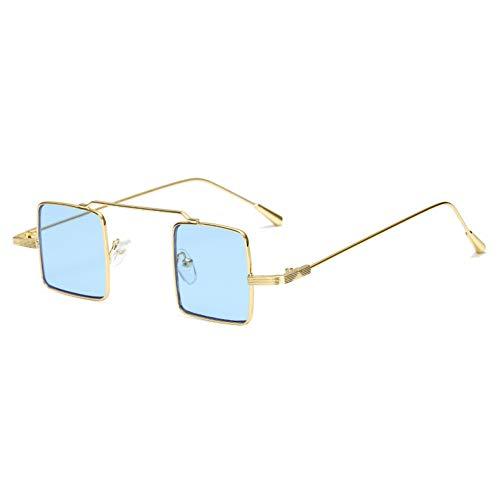 WZYMNTYJ Steampunk rechteck Sonnenbrille Frauen männer kleine quadratische Sonnenbrille verspiegelten Beschichtung gläser für weibliche Lange