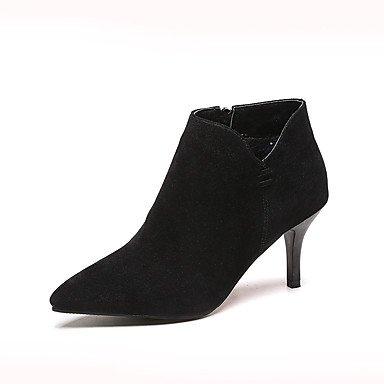 Wsx & Plm Femmes-bottines-bureau Et Travail Formel-confortable-a Stiletto-daim-noir Gris Beige Beige