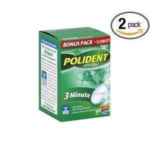 Polident Antibacterial 3 Minute Denture Cleanser 120
