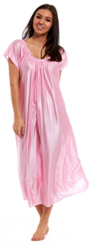 satin-nightie-lace-chemise-silky-nightdress-floral-sky-blue-lilac-red-pink-white