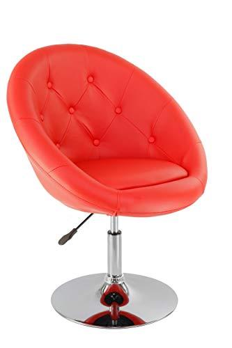 Sessel in Rot höhenverstellbar Kunstleder Clubsessel Coctailsessel Lounge Sessel Duhome 0338