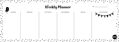 Weekly Planner Dots quer