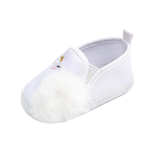 HEETEY Neugeborene Kleinkind Babys Schwan Hairball Anti-Slip Erste Wanderer Weiche Sohle Schuhe Schwan bestickte Plüschkinderschuhe - Bestickte Wildleder Baby-stiefel