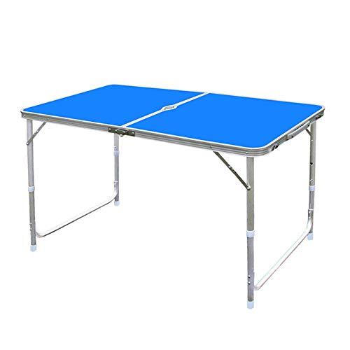 DX Klapptisch Outdoor tragbarer Aluminium Picknick Grill Tisch blau -