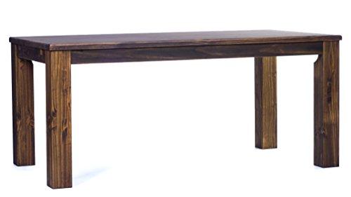 Brasilmoebel Esstisch Rio Classico 160 x 90 cm - Pinie Massivholz Brasilmöbel Farbe Eiche antik - in 27 Größen und 50 Farben - über 1000 Varianten...