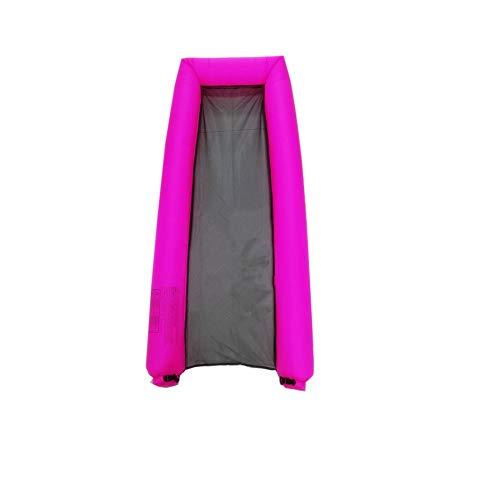 Y&M Aufblasbarer Pool schwimmt tragbare schwimmende Liegestuhl-Wasser-Hängematte für Erwachsene Kinder 440lb Kapazität Kein Leck Ripstop-Gewebe schnell aufgeblasen Keine Pumpe erforderlich,Pink
