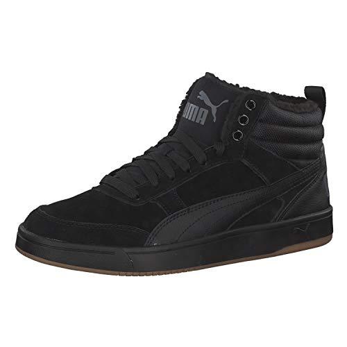 Puma rebound street v2 sd fur, sneaker a collo alto unisex – adulto, nero black-iron gate 01, 42 eu
