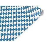 Tischtuch Papierrollen, Raute, 1 m/10m, weiß/blau