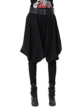 Pantalones tipo harem de invierno para mujer de ELLAZHU, pantalones hippies, talla única, GY508