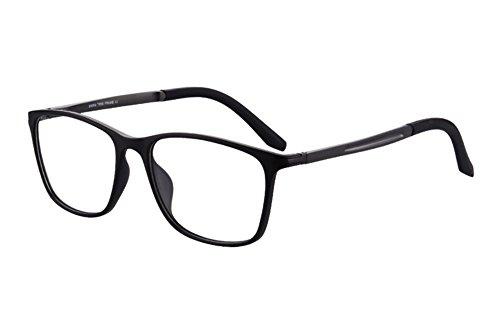 Shinu tr90 occhiali da lettura multifocale progressivi occhiali multifocali da lettura multifunzione occhiali da vista-sh031 (black, gun-up+0.00, down+1.50)