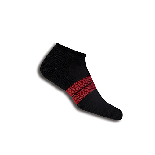 Thorlos Herren 84 N Runner No Show Socken Large schwarz - schwarz/red
