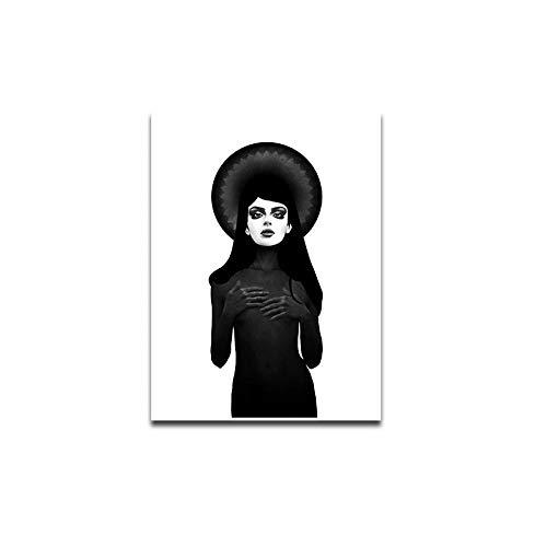 wwttoo Moderne Süße Leinwand Malerei Tötet Kunst Poster und Wohnkultur Malerei Drucke für Wohnzimmer Grafik Fotos-70x100 cm Kein Rahmen OC-RI005K