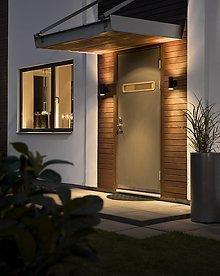 Modern Black External Up Down Outdoor Wall Light Pir