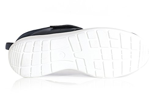 Zapatos Hombres Estilo Casual Correr Con Cordones Zapatos Roshe Leggero Sport Gym (uk10, Negro) Azul