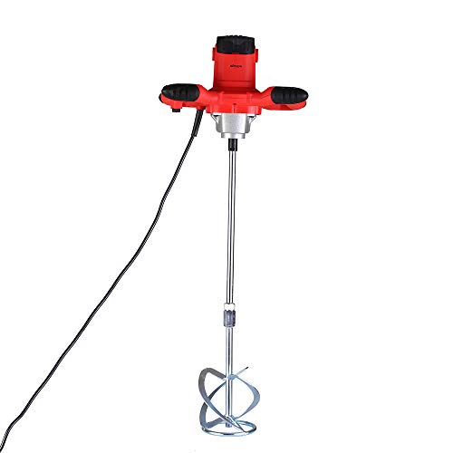 Mezclador para morteros 220V 2100W,mezcladora de pintura mortero agitador de pintura batidor de cemento con 6 velocidades 50 / 60Hz,800 rpm