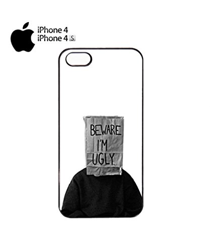 Beware I am Ugly Funny Mobile Cell Phone Case Cover iPhone 5c White Schwarz