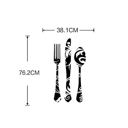 Wandsticker BTFWS-0146 Küchenwandaufkleber Messer und Gabel Werkzeug PVC entfernbarer Aufkleber ideal zum Dekorieren Kinderzimmer Wohnzimmer Schlafzimmer Kinderzimmer -