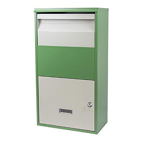 HYRL Paketkasten Extra großer persönlicher Haushalt Express-Posteingang für sichere Lieferungen Große Paketbox für den Außenbereich Postfach,Green