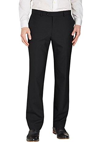 next Homme Coupe Ajustée Costume 100% Laine: Pantalon Noir