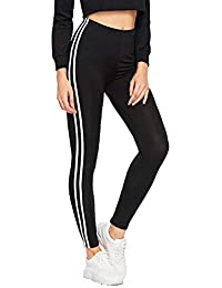 16481c19475645 Helisha Ankle-Length Gym legging | Workout Trousers| Stretchable Striped  Jeggings | High Waist