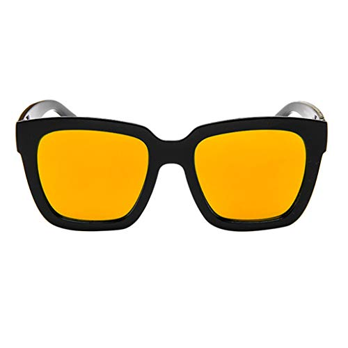 Honestyi Polarisierte Sonnenbrillen für Frauen, Verspiegelte Brillengläser Eyewear 5111 Bunte Mode Retro