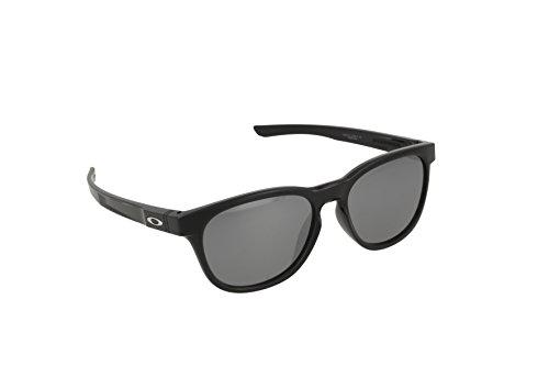 Oakley Herren Sonnenbrille Stringer Schwarz (Polished Black/Blackiridium), 55