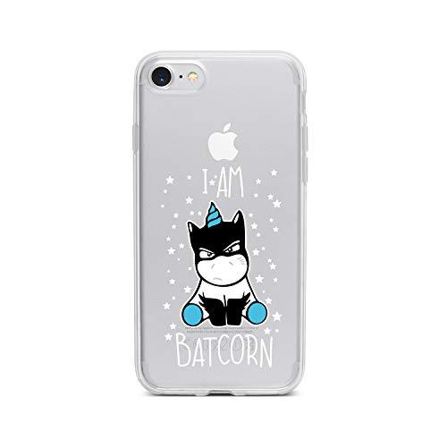 licaso Apple iPhone 7 Handyhülle Smartphone Apple Case aus TPU mit I Am A Batcorn Print Motiv Slim Design Transparent Cover Schutz Hülle Protector Soft Aufdruck Lustig Funny Druck