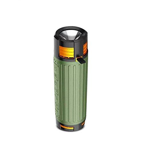 Bluetooth-Lautsprecher Wireless Y20 Outdoor Sport Lautsprecher Portable Bluetooth Subwoofer Fahrrad Taschenlampe 20W Karte Audio 10000mAH, Green
