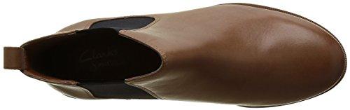 Clarks Taylor Shine, Bottes Classiques femme Marron (Tan Leather)