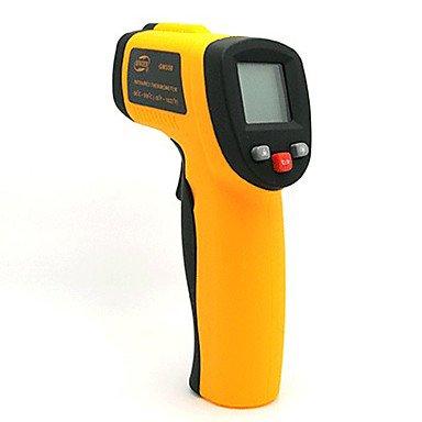 BENETECH GM3203cm LCD Infrarot-Temperatur Tester Thermometer–Orange + Schwarz (2x AAA)