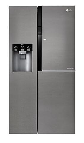 LG Electronics GSJ 361 DIDV Side by Side / A+ / 179 cm / 429 kWh/Jahr / 394 L Kühlteil / 197 Gefrierteil / Digitaldisplay mit Temperaturregelung / No Frost / dunkel graphite