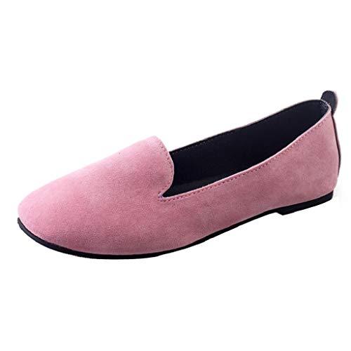 ABCone Scarpe Donna Elegante Scarpe da Donna, Invernali Moda Scarpe Slip On Punta Rotonda Piatti Sandali A Piedi Scarpe Casual