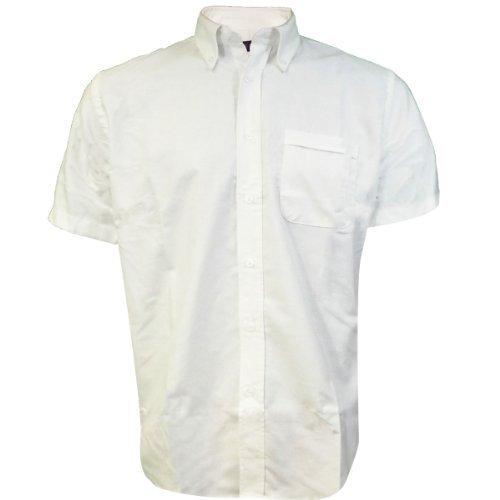 Hemd Kurzärmeliges Hemd Mens Unternehmen Workforce Neu Verschiedene Farben & Größen Weiß