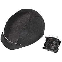 3565210d096e5 KLES´S Funda para Casco de Equitación Diseño Tira Brillantes. Equestrian  Hat Cover.
