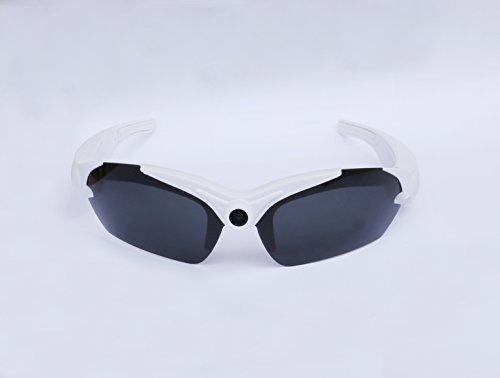 Action Cam HD Kamera Brille Sonnenbrille mit integrierter Kamera Sport Kamerabrille Brille in weiß von der Marke PRECORN