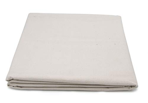 Paintersisters Maltuch – Leinwand ungrundiert, 160cm x 5m Rohgewebe 7 oz/m² aus 100% Baumwolle, Zum Bespannen von Keilrahmen, Malgrund Raw Cotton